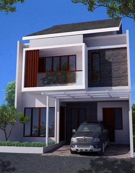96 Gambar Desain Rumah Modern Dua Lantai Terbaru Unduh