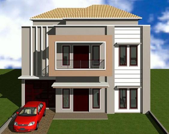 Contoh Rumah 2 Lantai Minimalis Modern Terbaru