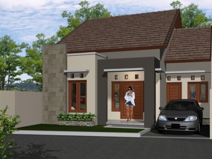 Contoh Rumah Minimalis 1 Lantai Tampak Depan