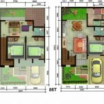 Contoh denah rumah sederhana 2 lantai Minimalis