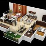 Denah Interior Rumah Minimalis 1 Lantai