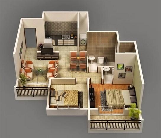 Denah Interior Rumah Type 36