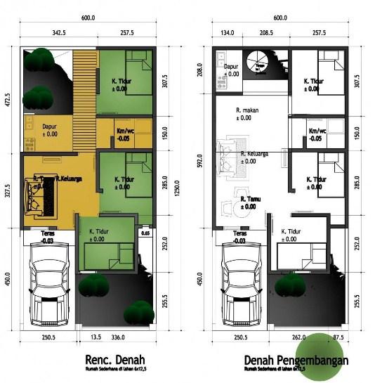 Denah Rumah Lantai 2 Minimalis