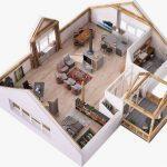 Denah Rumah Mewah Minimalis 1 Lantai