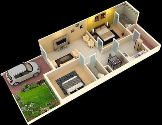 Denah Rumah Minimalis 1 Lantai 2020