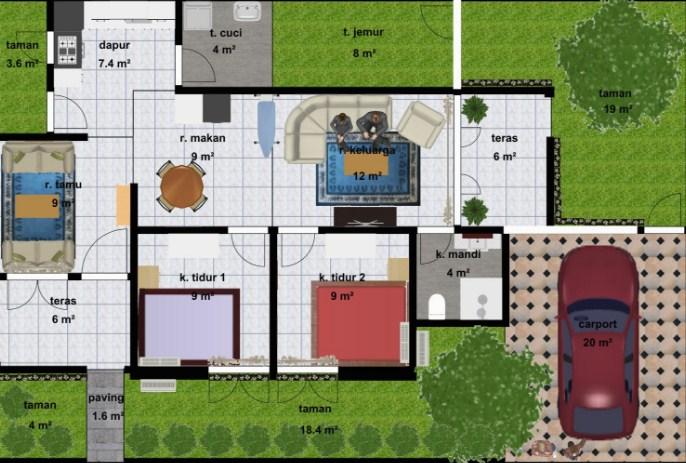 640 Foto Desain Rumah 3 Kamar Tidur 1 Garasi Terbaik Download