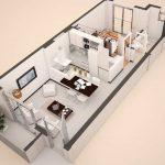 Denah Rumah Minimalis 1 Lantai Sederhana