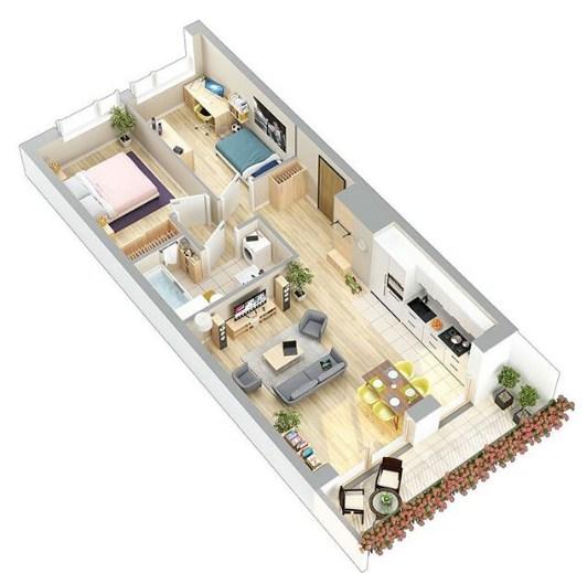 Denah Rumah Minimalis 1 Lantai Terbaru 2020
