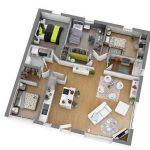 Denah Rumah Minimalis 1 Lantai Type 45