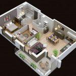 Denah Rumah Minimalis Sederhana 1 Lantai 3d