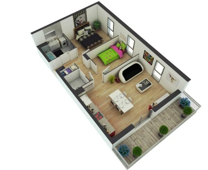 Denah Rumah Minimalis Type 36 Terbaru 2019