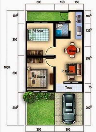Denah Rumah Type 36 Renovasi