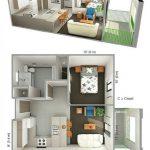 Denah rumah type 36 dengan Kamar Mandi yang Luas