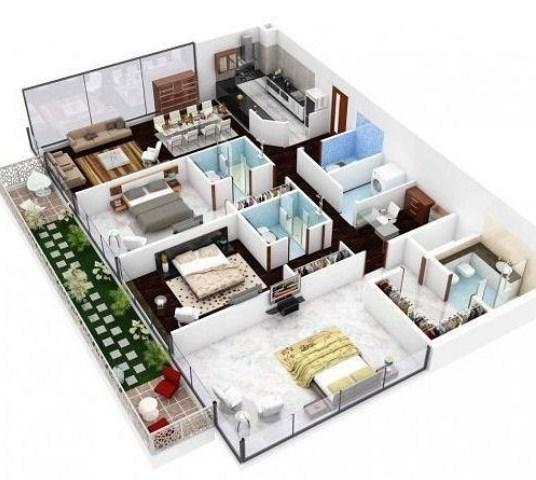 Desain Dan Denah Rumah Minimalis Modern 1 Lantai