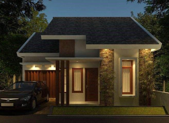 Desain Denah Rumah Minimalis Modern 1 Lantai