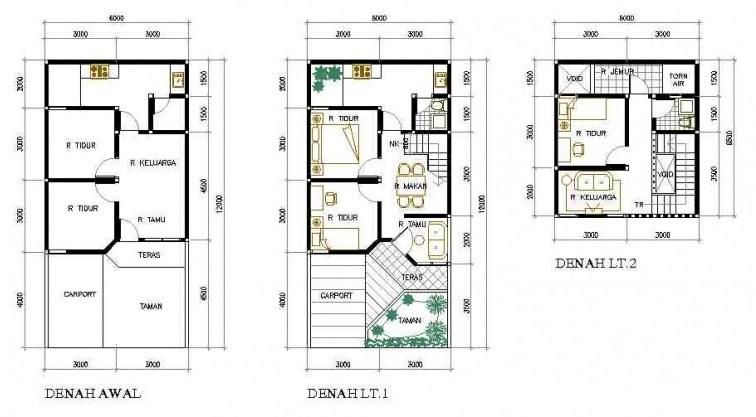 Desain Denah Rumah Minimalis Type 36