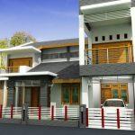 Desain Rumah 2 Lantai Minimalis Sederhana