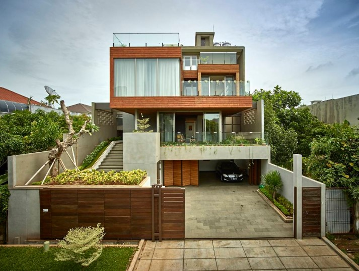 Desain Rumah Minimalis 2 Lantai Atap Beton
