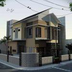 Desain Rumah Minimalis 2 Lantai Batu Alam