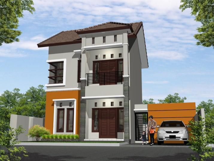 Desain Rumah Minimalis 2 Lantai Halaman Luas