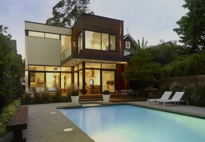 Desain Rumah Minimalis 2 Lantai Kolam Renang