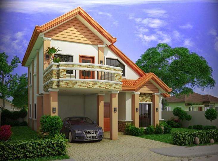 Desain Rumah Minimalis 2 Lantai Simple