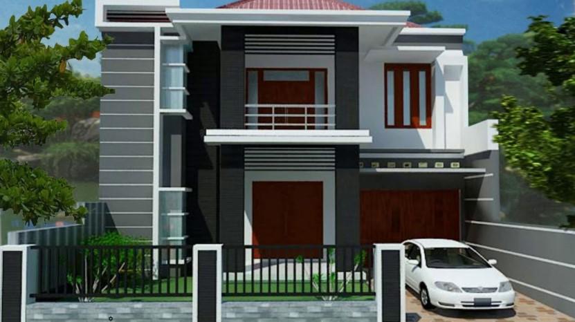 Desain Rumah Minimalis 2 Lantai Tampak Depan