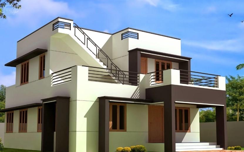Desain Rumah Minimalis 2 Lantai Tanpa Atap