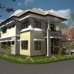 Desain Rumah Minimalis 2 Lantai Type 36 Pojok