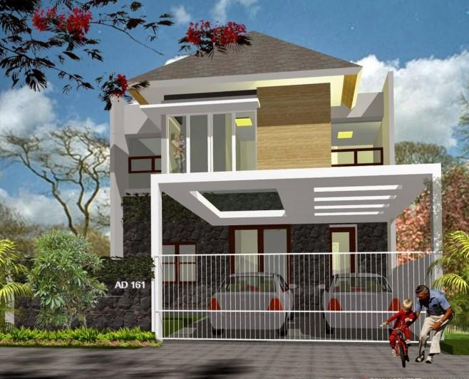 Desain Rumah Minimalis 2 Lantai Ukuran 8x12