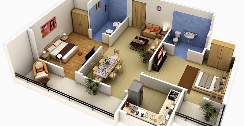 Desain Rumah Minimalis Type 36 Beserta Denah