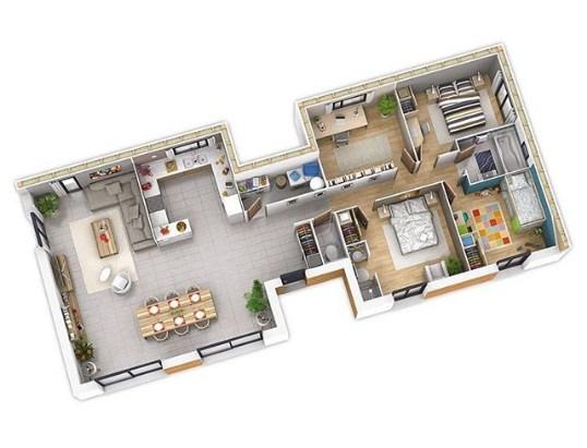 Gambar Denah Rumah Minimalis 1 Lantai Modern 2020