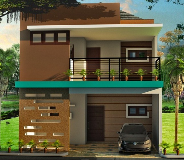 Model Rumah Minimalis Type 36 Lantai 2