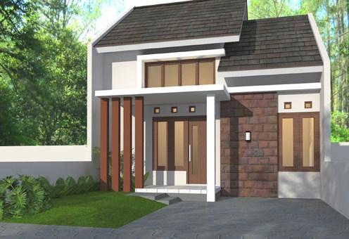 Rumah Minimalis Modern 1 Lantai 2 Kamar