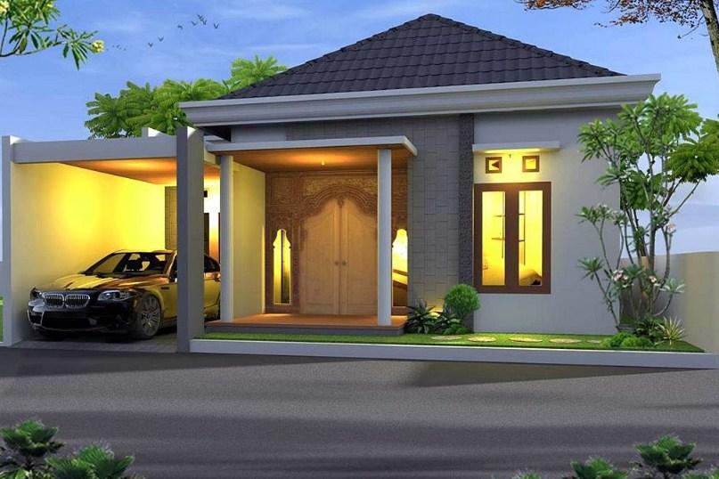 Rumah Minimalis Modern 1 Lantai Dengan Garasi