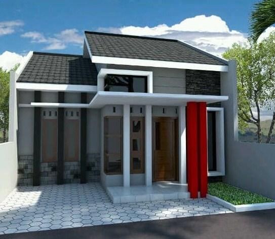 Rumah Minimalis Modern 1 Lantai Tampak Depan