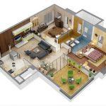 Sketsa Denah Rumah Minimalis 1 Lantai