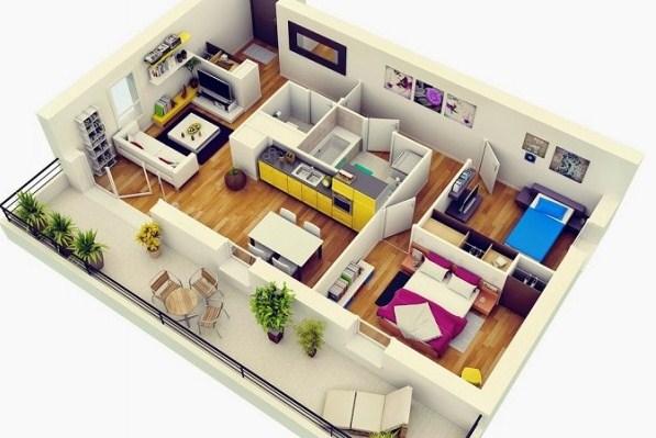 Sketsa Interior Rumah Minimalis Type 36