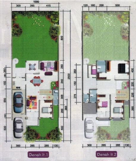 Sketsa Rumah 2 Lantai Minimalis