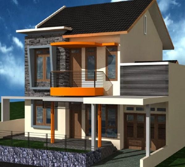 Tampak Depan Rumah Minimalis 2 Lantai 2020
