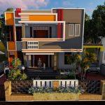 Warna Cat Rumah Minimalis 2 Lantai Tampak Depan