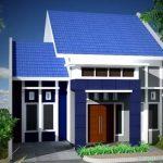 Contoh Cat Rumah Bagian Luar Warna Biru