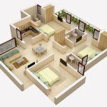 Contoh Denah Rumah Kecil Minimalis 3 Kamar Tidur