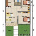 Contoh Denah Rumah Minimalis 2 Kamar