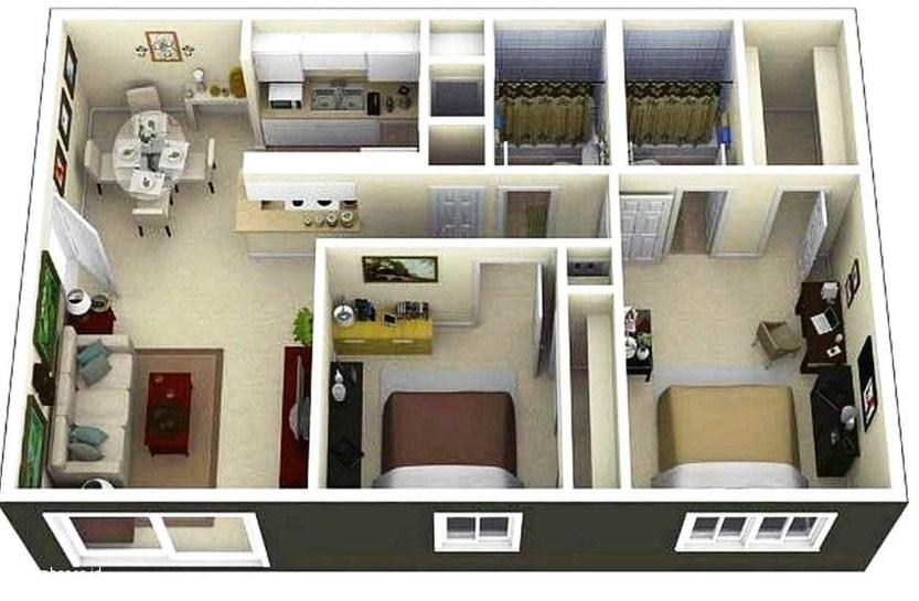 √ 21+ Denah Rumah Minimalis 2 Kamar 1 & 2 Lantai 2020