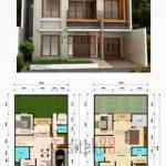 Contoh Denah Rumah Minimalis 2 Lantai Type 36