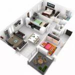 Contoh Denah Rumah Minimalis 3d