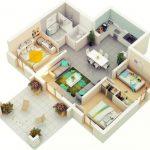 Contoh Denah Rumah Sederhana Modern