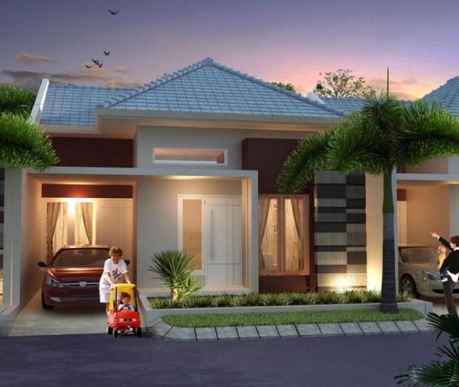 Contoh Desain Rumah Type 45