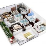 Contoh Gambar Denah Rumah 2 Lantai 3D